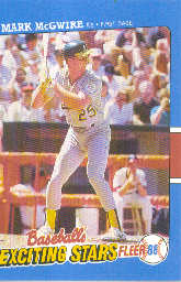 1988 Fleer Exciting Stars Baseball Cards       026      Mark McGwire