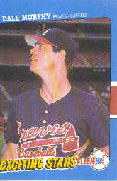 1988 Fleer Exciting Stars Baseball Cards       028      Dale Murphy