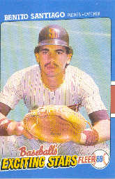 1988 Fleer Exciting Stars Baseball Cards       033      Benito Santiago