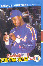 1988 Fleer Exciting Stars Baseball Cards       039      Darryl Strawberry