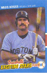 1988 Fleer Exciting Stars Baseball Cards       004      Wade Boggs