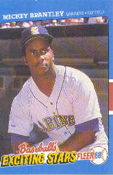 1988 Fleer Exciting Stars Baseball Cards       005      Mickey Brantley