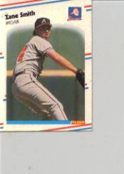 1988 Fleer Mini Baseball Cards 066      Zane Smith