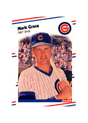 1988 Fleer Mini Baseball Cards 068      Mark Grace RC