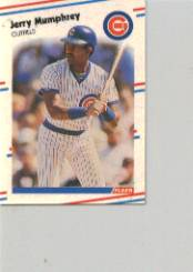 1988 Fleer Mini Baseball Cards 069      Jerry Mumphrey