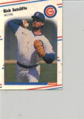 1988 Fleer Mini Baseball Cards 071      Rick Sutcliffe