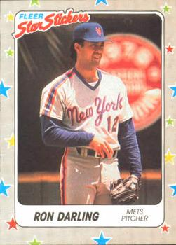 1988 Fleer Sticker Baseball Cards        100     Ron Darling