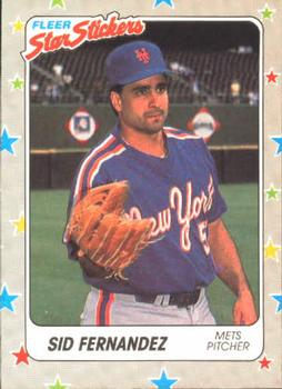 1988 Fleer Sticker Baseball Cards        101     Sid Fernandez