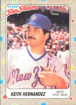 1988 Fleer Sticker Baseball Cards        103     Keith Hernandez