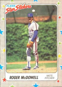 1988 Fleer Sticker Baseball Cards        105     Roger McDowell