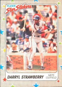 1988 Fleer Sticker Baseball Cards        106     Darryl Strawberry