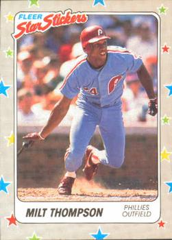 1988 Fleer Sticker Baseball Cards        112     Milt Thompson