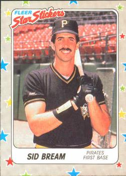 1988 Fleer Sticker Baseball Cards        113     Sid Bream