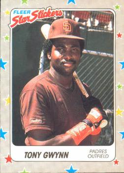 1988 Fleer Sticker Baseball Cards        123     Tony Gwynn