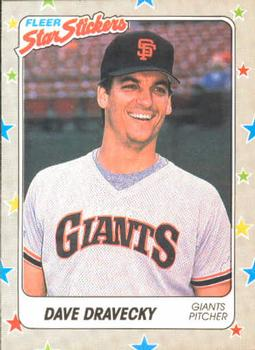 1988 Fleer Sticker Baseball Cards        127     Dave Dravecky