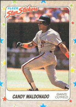 1988 Fleer Sticker Baseball Cards        129     Candy Maldonado