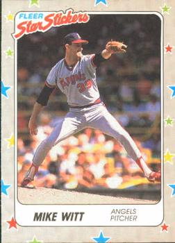 1988 Fleer Sticker Baseball Cards        013      Mike Witt