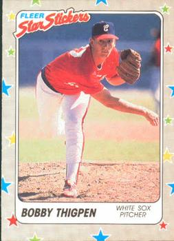 1988 Fleer Sticker Baseball Cards        017      Bobby Thigpen