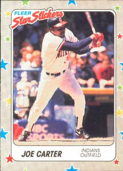1988 Fleer Sticker Baseball Cards        018      Joe Carter