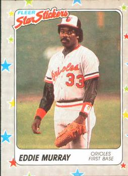 1988 Fleer Sticker Baseball Cards        002      Eddie Murray