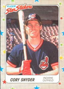 1988 Fleer Sticker Baseball Cards        021      Cory Snyder