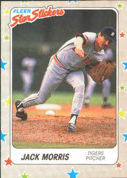 1988 Fleer Sticker Baseball Cards        026      Jack Morris