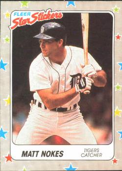 1988 Fleer Sticker Baseball Cards        027      Matt Nokes