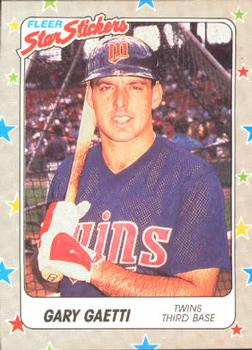 1988 Fleer Sticker Baseball Cards        043      Gary Gaetti