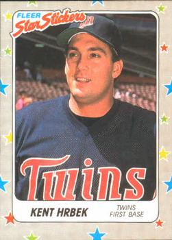 1988 Fleer Sticker Baseball Cards        044      Kent Hrbek