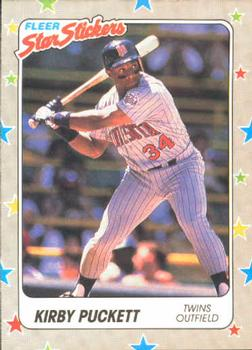 1988 Fleer Sticker Baseball Cards        045      Kirby Puckett