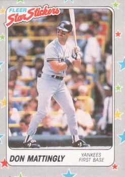 1988 Fleer Sticker Baseball Cards        048      Don Mattingly
