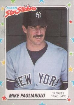 1988 Fleer Sticker Baseball Cards        049      Mike Pagliarulo
