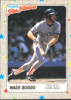 1988 Fleer Sticker Baseball Cards        005      Wade Boggs