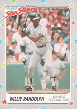 1988 Fleer Sticker Baseball Cards        050      Willie Randolph