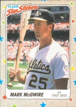 1988 Fleer Sticker Baseball Cards        056      Mark McGwire