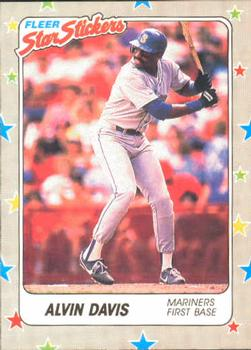 1988 Fleer Sticker Baseball Cards        059      Alvin Davis