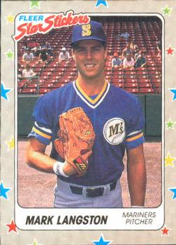 1988 Fleer Sticker Baseball Cards        060      Mark Langston