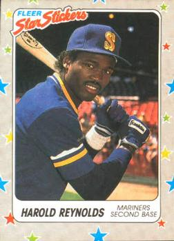 1988 Fleer Sticker Baseball Cards        062      Harold Reynolds