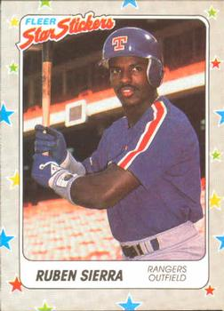 1988 Fleer Sticker Baseball Cards        069      Ruben Sierra