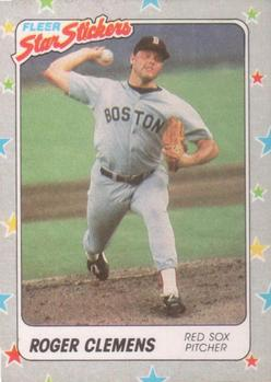 1988 Fleer Sticker Baseball Cards        007      Roger Clemens