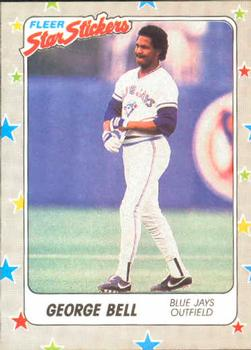 1988 Fleer Sticker Baseball Cards        071      George Bell