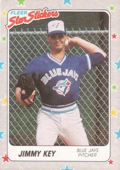 1988 Fleer Sticker Baseball Cards        074      Jimmy Key