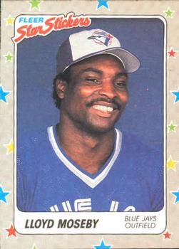 1988 Fleer Sticker Baseball Cards        075      Lloyd Moseby