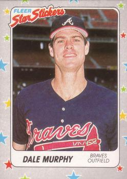 1988 Fleer Sticker Baseball Cards        077      Dale Murphy