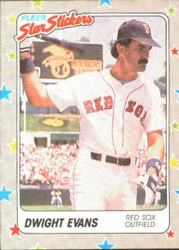 1988 Fleer Sticker Baseball Cards        008      Dwight Evans