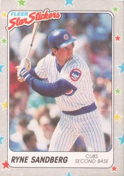 1988 Fleer Sticker Baseball Cards        080      Ryne Sandberg