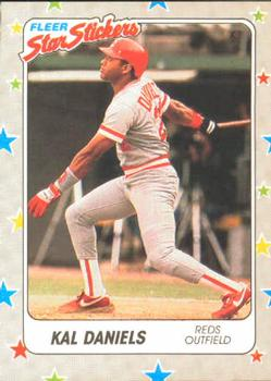 1988 Fleer Sticker Baseball Cards        082      Kal Daniels