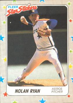 1988 Fleer Sticker Baseball Cards        088      Nolan Ryan