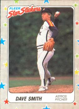 1988 Fleer Sticker Baseball Cards        090      Dave Smith