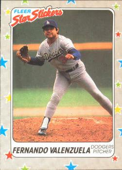 1988 Fleer Sticker Baseball Cards        094      Fernando Valenzuela
